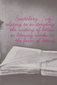 Epistolary definition