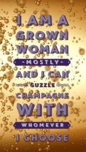 Guzzle champagne