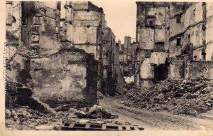 Saint-Malo détruit en 1944, rue Saint-Vincent