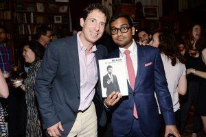 Eric Klinenberg, Aziz Ansari== Aziz Ansari's 'Modern Romance' Book Launch== Strand Bookstore, NYC== June 13, 2015== ©Patrick McMullan== Photo - Clint Spaulding/PatrickMcMullan.com== ==